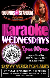 Agave Taco Bar - Wednesdays 7pm-10pm 2949 N. Federal Hwy Ft. Lauderdale