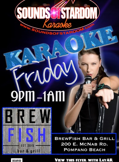 BrewFish Bar & Grill - Fridays 9pm-1am 200 E. McNab Rd. Pompano Beach