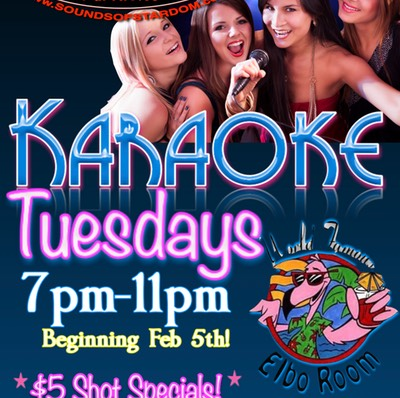 The World Famous Elbo Room - Tuesdays 7pm-11pm 124 S. Ft. Lauderdale Beach Blvd. Ft. Lauderdale
