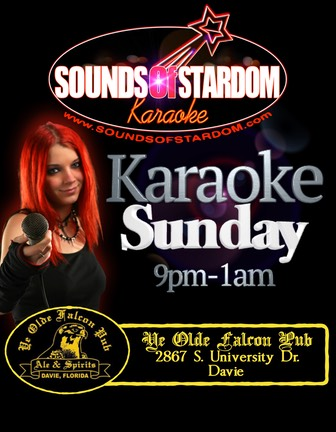 Falcon Pub - Sundays 9pm-1am 2867 S. University Dr. Davie