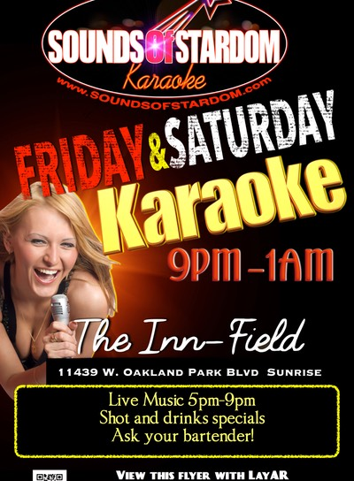 Innfield Pub - Fridays 9pm - 1am 11439 W. Oakland Park Blvd Sunrise