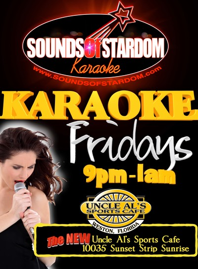 Uncle Al's - Fridays 9pm - 1am 10035 Sunset Strip Sunrise