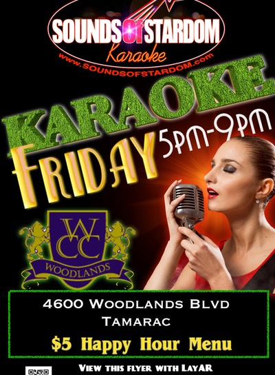 Woodlands Country Club - Fridays 5pm-9pm 4600 Woodlands Blvd. Tamarac